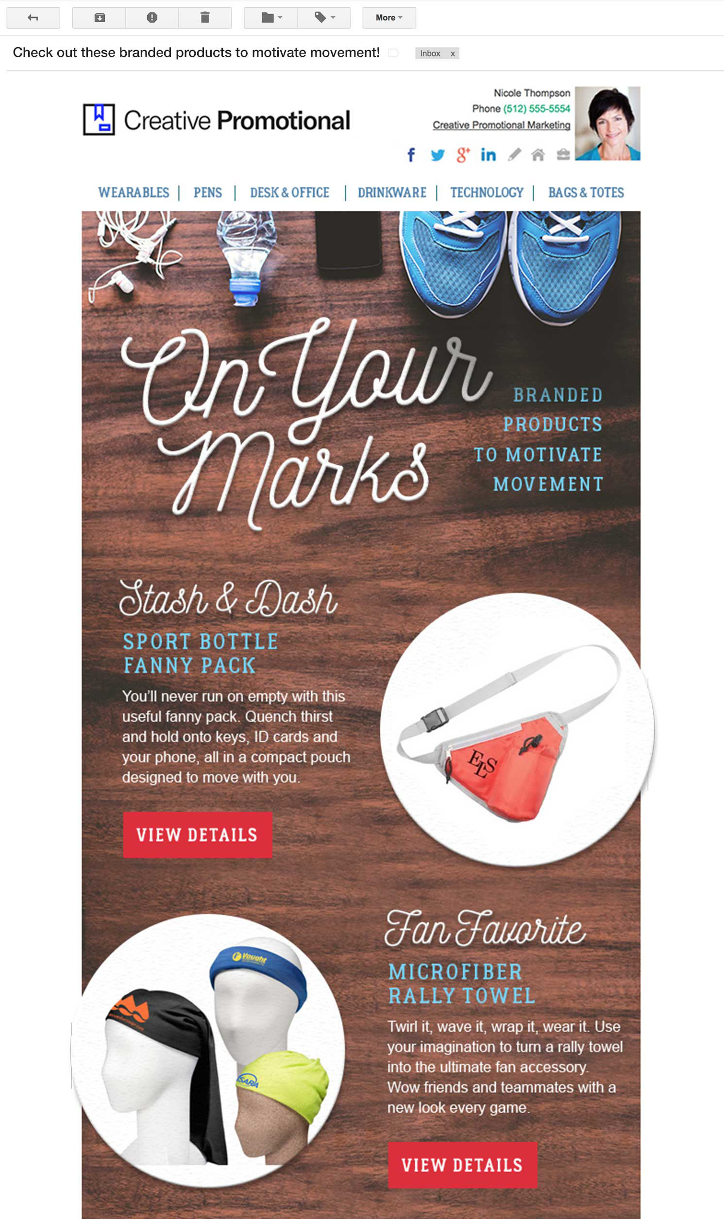 Promotional Products Email Newsletter